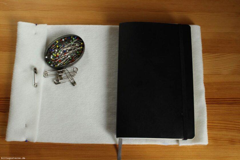 Alltagssterne-Ideenkeime-DIY-Notizbuchhülle-Filz-Vorgehensweise-Umschlag